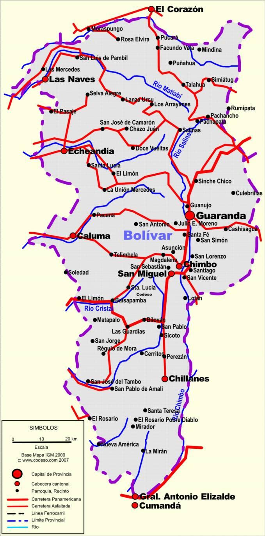 Bolivar Mapas Provincias Map Of Provinces Ecuator Landkarten - Ecuador provinces map