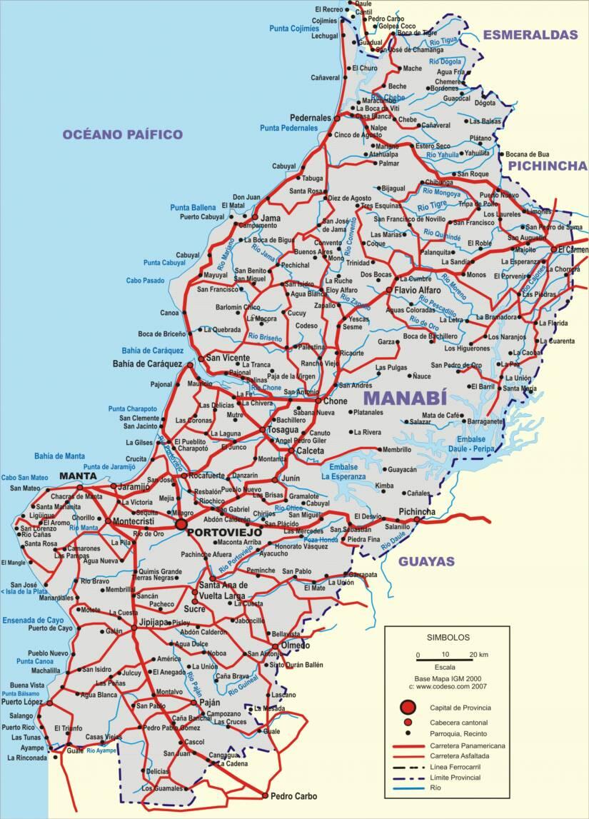 Manabi Mapas Provincias Map Of Provinces Ecuator Landkarten - Ecuador provinces map