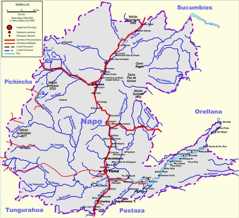 Napo Mapas Provincias Map Of Provinces Ecuator Landkarten - Ecuador provinces map