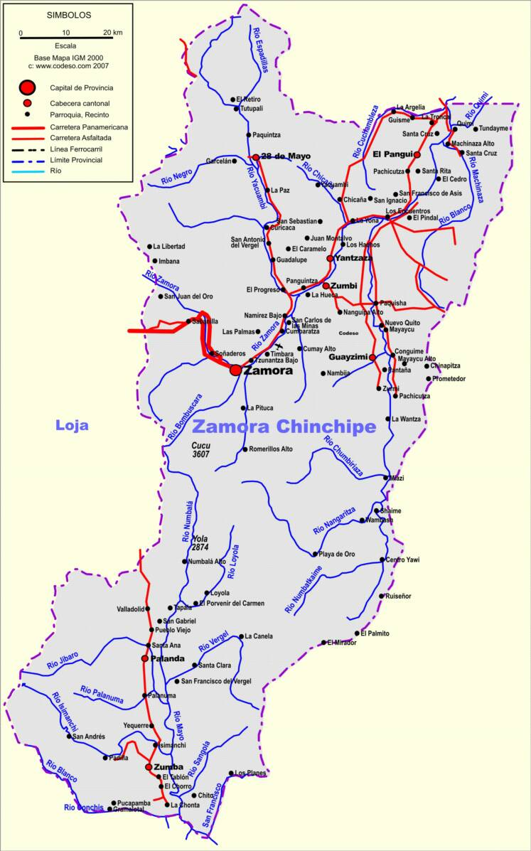 Zamora Chinchipe Mapas Provincias Map Of Provinces Ecuator - Ecuador provinces map