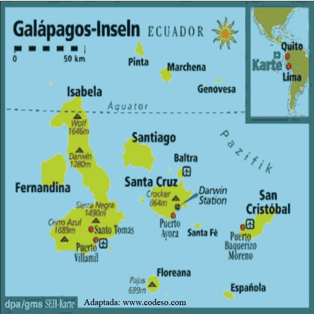 Map Galapagos Islands Spiegel Online