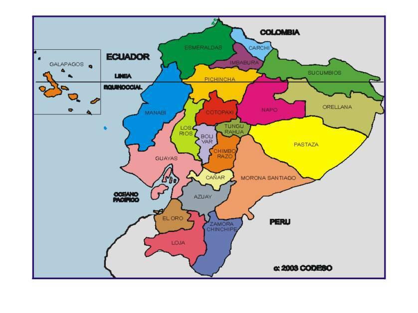 Mapas Provincias Del Ecuador Sudamerica