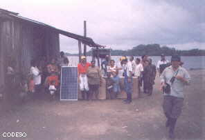 Arriving of the solarpanels in the comunity Pichangal